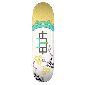 Yellow Girly Booya Skateboard Deck Custom Skate Board