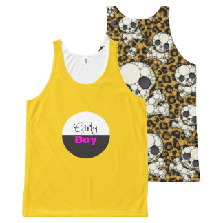Yellow Girly Boy UNISEX Tank Top All-Over Print Tank Top