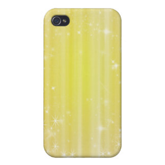 Yellow Girly Sparkles 4s  Case For iPhone 4