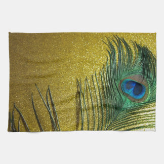 Yellow Gittery Still Life with Peacock Towel