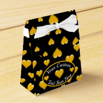 Yellow Glass Heart Customizable 2 Favor Box