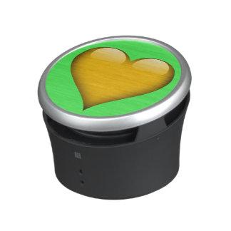 Yellow Glass Heart Customizable Speaker