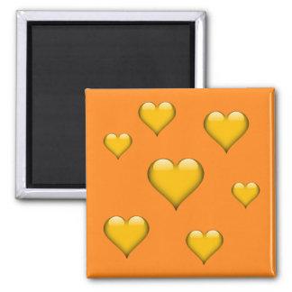 Yellow Glass Heart Tiled Customizable Magnet