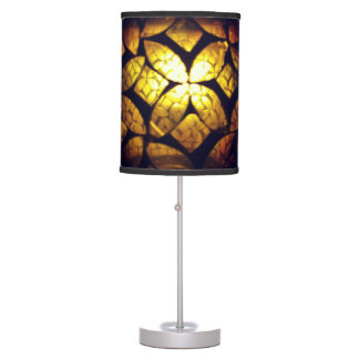 Yellow Glass Texture Lamp