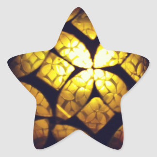 Yellow Glass Texture Star Stickers
