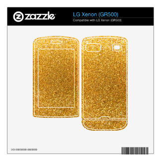 Yellow glitter decal for LG xenon