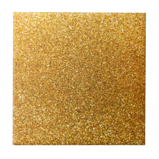 Yellow glitter tile