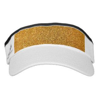 Yellow glitter headsweats visors