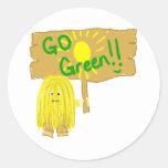 Yellow go green sticker
