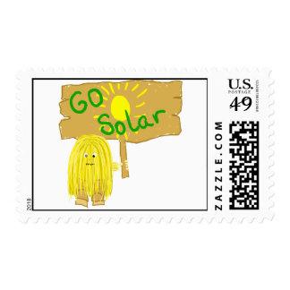 Yellow Go Solar Sun Stamp