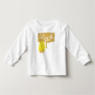 Yellow go solar toddler t-shirt