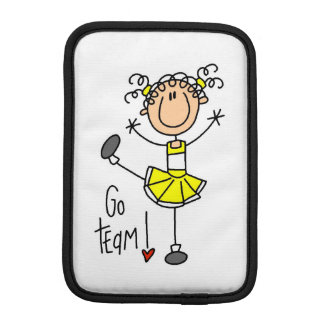 Yellow Go Team Cheerleader iPad Mini Sleeve