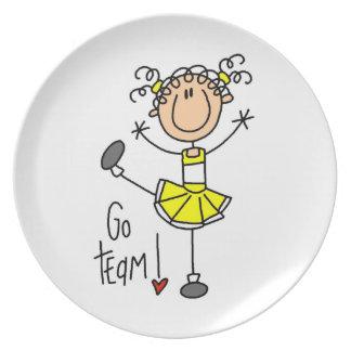 Yellow Go Team Cheerleader Plate