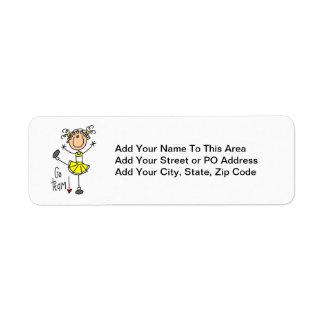 Yellow Go Team Cheerleader Return Address Label
