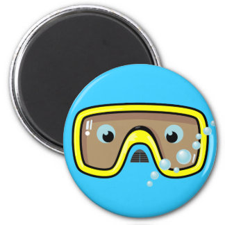 Yellow Goggles 2 Inch Round Magnet