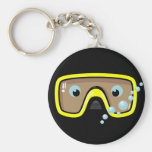 Yellow Goggles Basic Round Button Keychain