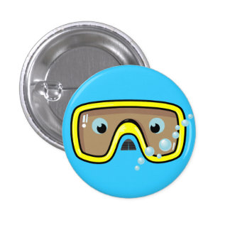 Yellow Goggles Button