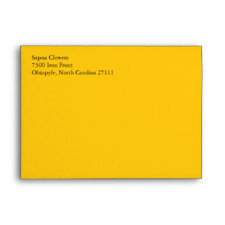 Yellow Gold A7 5x7 Custom Pre-addressed Envelopes