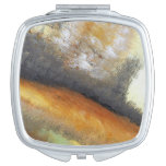 Yellow Gold Abstract Compact Mirror