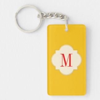 Yellow gold acrylic key chain