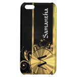 Yellow gold and black monogram iPhone 5C cover