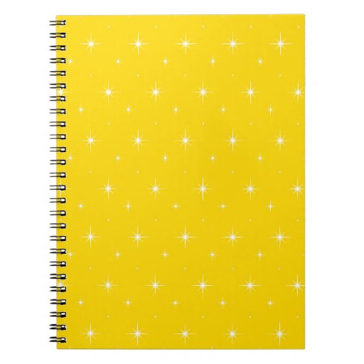 Yellow Gold And Bright Stars Elegant Pattern Note Book