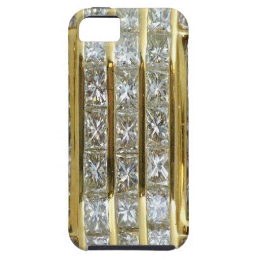 Yellow Gold and Diamond Art iPhone 5 Case