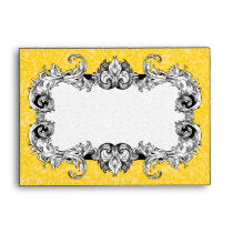 Yellow Gold and White A6 Gothic Baroque Envelopes
