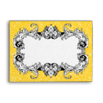 Yellow Gold and White A7 Gothic Baroque Envelopes