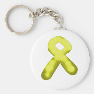 Yellow Gold Awareness Ribbon Candle Keychain