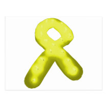 Yellow / Gold Awareness Ribbon Candle Postcard
