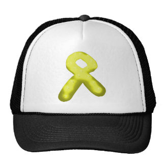 Yellow / Gold Awareness Ribbon Candle Trucker Hat