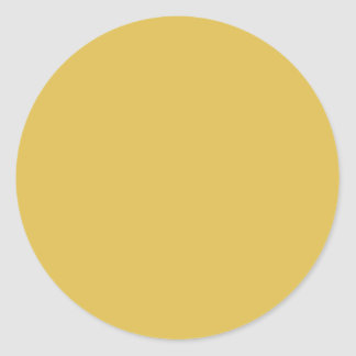 Yellow Gold Background Colour Template Round Stickers