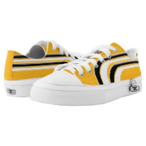 Yellow-Gold Black and White Sojourn Max Low-Top Sneakers