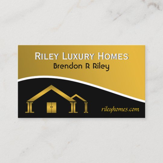 Yellow gold black home building construction business card yellow gold black home building construction business card reheart Gallery