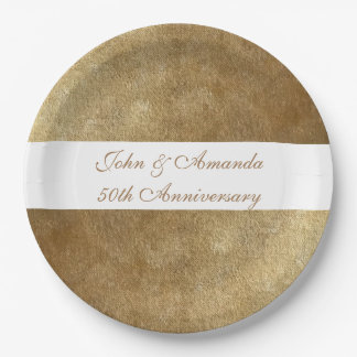 Yellow Gold Blends Personalized Anniversary Plates