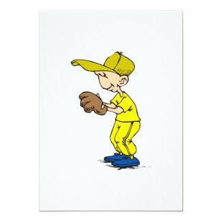 yellow & gold boy ball player card