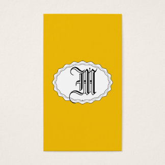 Yellow Gold Business Card