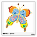 Yellow gold butterfliy wall skins