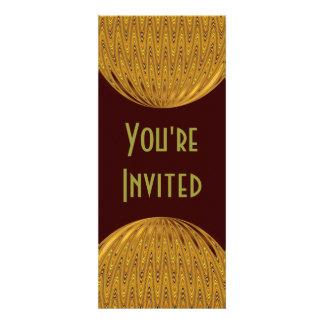 yellow gold circle custom invitation