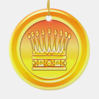 Yellow Gold Crown Ceramic Ornament