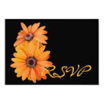 "Yellow Gold Daisies RSVP Wedding Response Card 3.5"" X 5"" Invitation Card"
