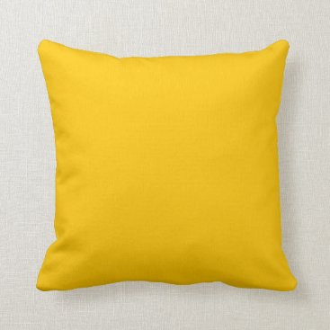 Beach Themed Yellow Gold Decorative Accent Throw Pillow