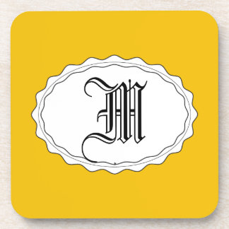 Yellow Gold Drink Coasters