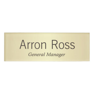 Yellow Gold employee Staff Magnetic Name Tag Badge