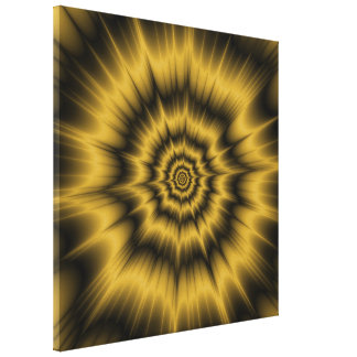 Yellow Gold Explosion Canvas Print