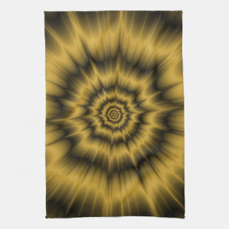 Yellow Gold Explosion Kitchen Towel