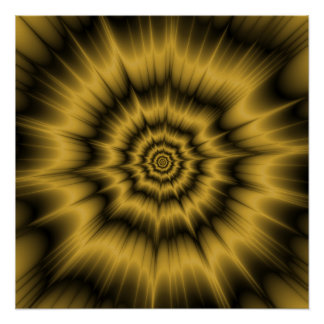 Yellow Gold Explosion Zazzle Perfect Poster