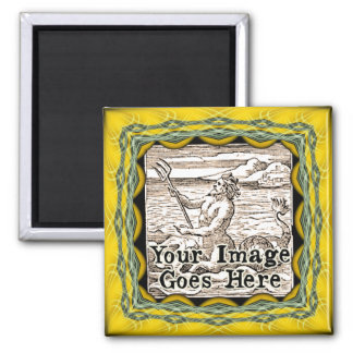 Yellow Gold Fantasy Frame Template Magnet