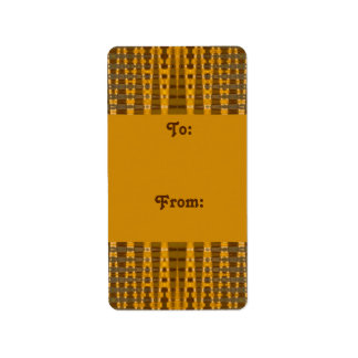yellow gold gift tags personalized address labels